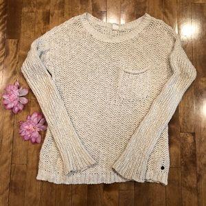 Roxy sweater size m ivory